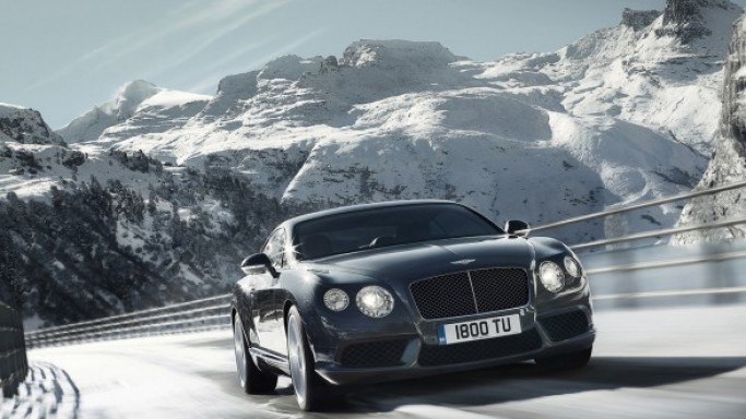 Bentley Continental GTC Mulliner car - Color: Black  // Description: sleek