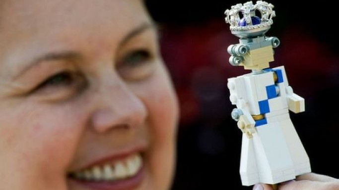 Bejeweled Lego Queen Elizabeth II comes with a diamond-encrusted crown