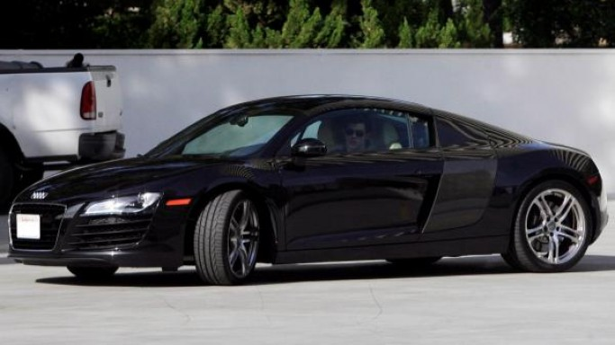Taylor Lautner was seen driving a $196,800 white German Audi R8 in West Hollywood