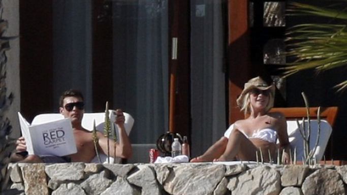 Julianne Hough has been spotted in Cabo San Lucas twice getting some much needed rest and recreation with her beau Ryan Seacrest