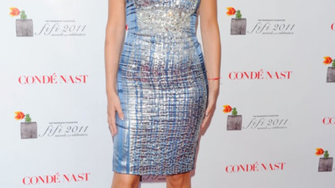 Versace shiny silver dress
