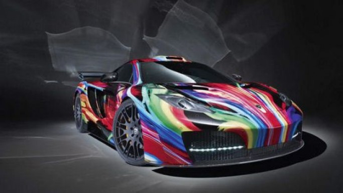 Hamann Motorsports McLaren MP4-12C artistic multicolor coating package costs $122,000