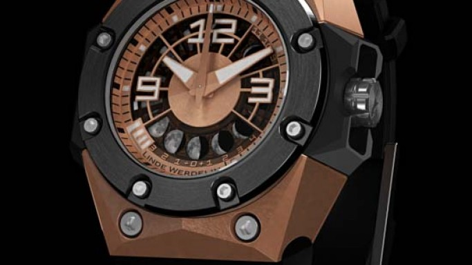Linde Werdelin Oktopus II Moon Watches displays the moon cycle just as you see it in the sky