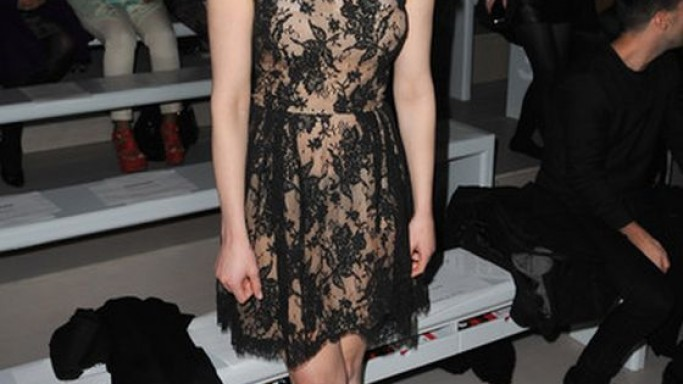 Gemma wears Issa Spring 2012 RTW Lace Dress