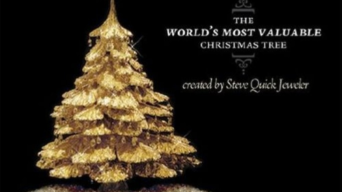 Gold and Diamond Christmas Tree By Steve Quick Jeweler