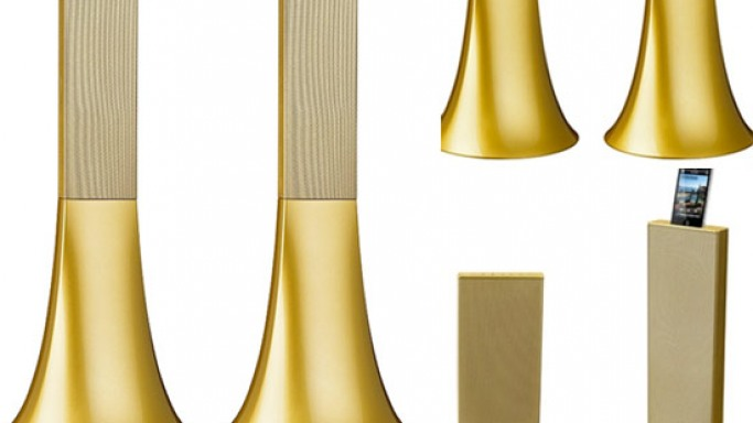 Parrot unveils limited edition 'Ancient Gold' Zikmu speakers by Philippe Starck
