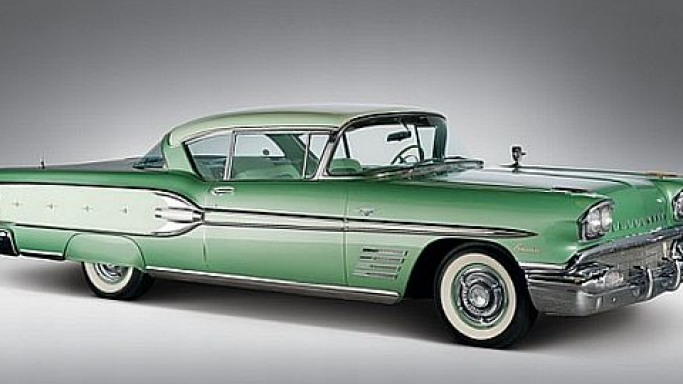 A 1958 Pontiac Bonneville sport coupe sold for $121,000