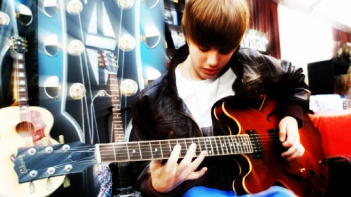 Justin with his first love
