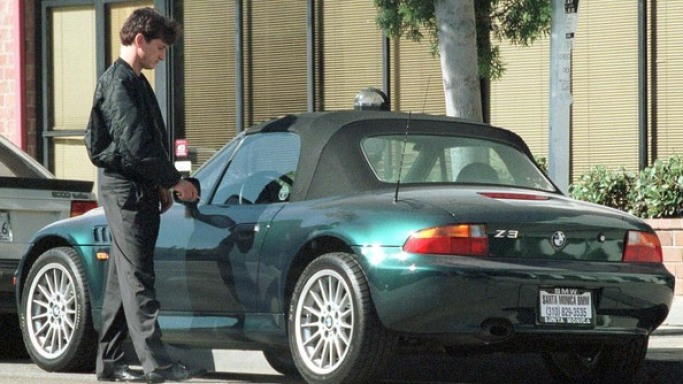 photo of Sean Penn BMW Convertible - car