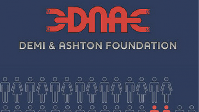 The famous singer supports the Demi and Ashton Foundation condensed as DNA