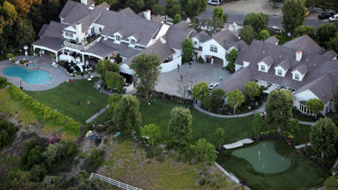 Jennifer Lopez mansion in California, United States