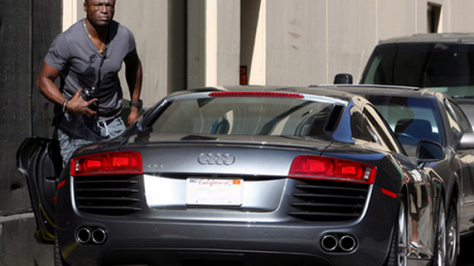 He was spotted recently cruising in his Audi R8