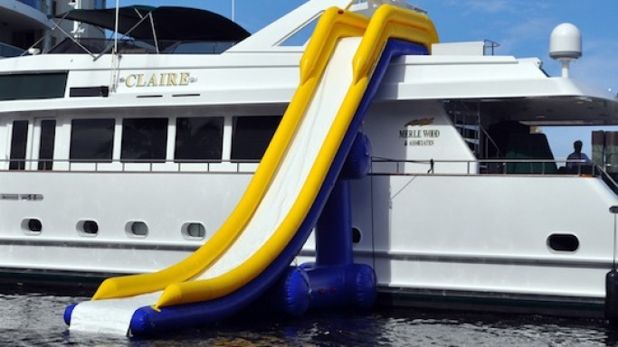 Custom Inflatable Waterslide is the ultimate water toy for Yacht Owners