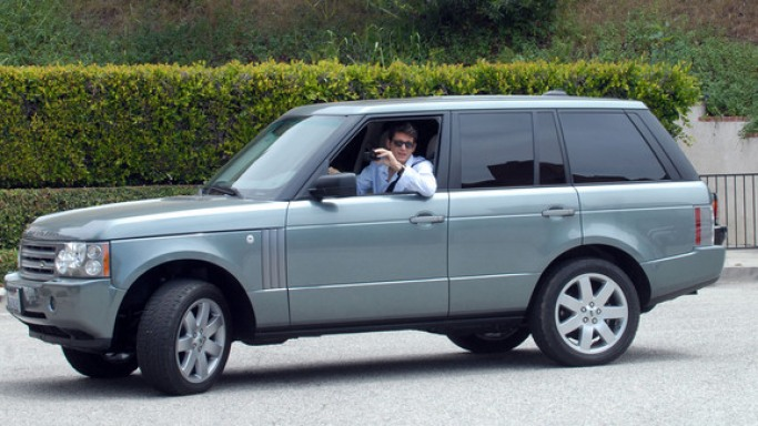 Range Rover car - Color: Gray  // Description: