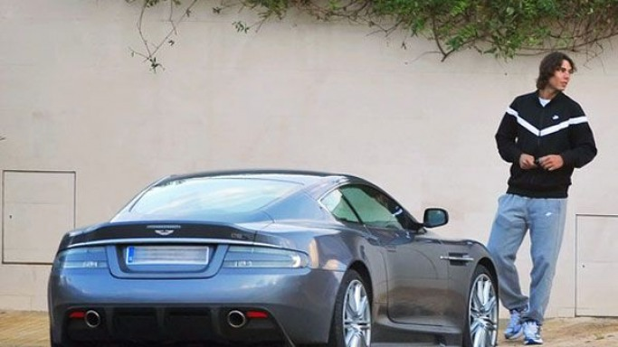 photo of Rafael Nadal Aston Martin DBS - car