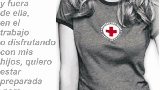 Heidi Klum supports the efforts of Red Cross