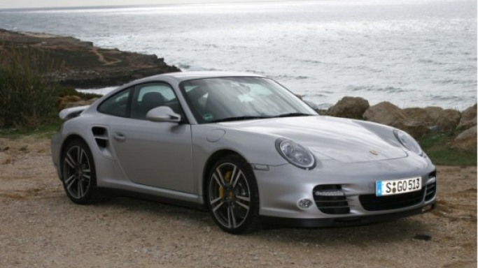 911 Turbo car - Color: Silver  // Description: appealing