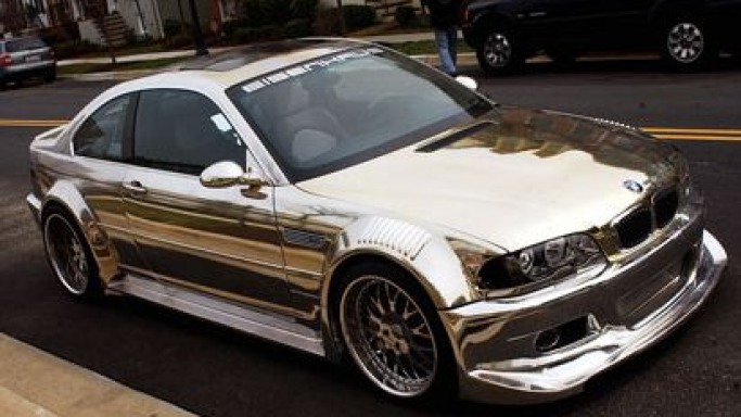 All-chrome BMW