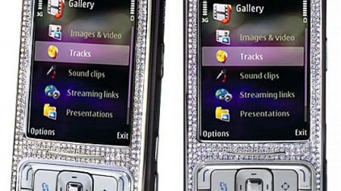 Limited edition Diamond encrusted Nokia N95 8GB