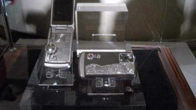 Not-for-sale diamond-encrusted LG Shine phones