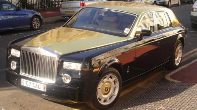 Rolls Royce Phantom kissed by gold glamour