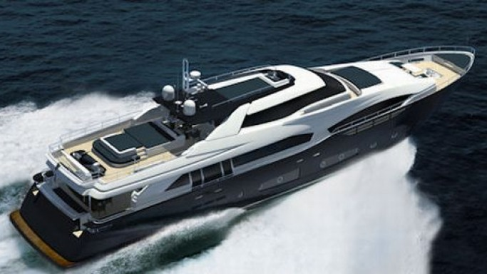 Ferretti Custom Line shows design for its 124' superyacht