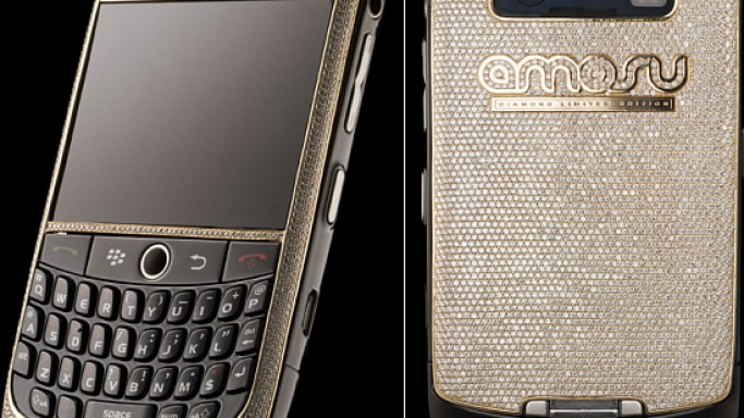 Amosu unveils world's most expensive diamond encrusted BlackBerry for $200,366