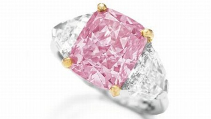 "Rare ""Vivid Pink"" diamond auctioned for $11.7 million"
