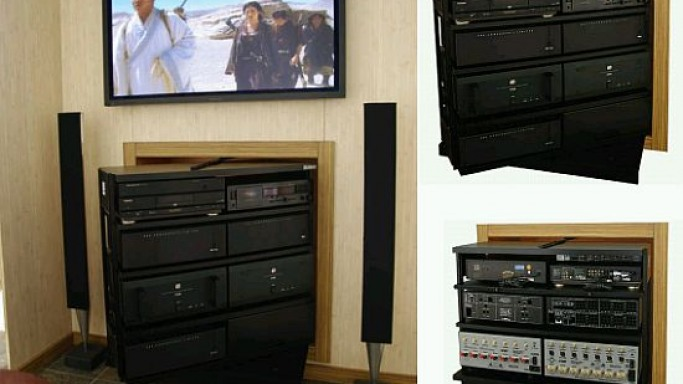 Fatrak's A/V rack combines aesthetics with functionality