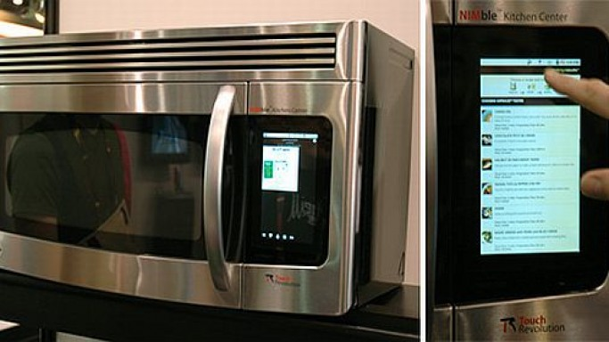 Touch Revolution brings the Android powered microwave and washing machine