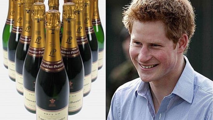 Prince Harry splashes cash and champagne in a boozy night out
