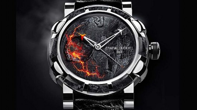 Romain Jerome confines Eyjafjallajökull volcano in DNA watch