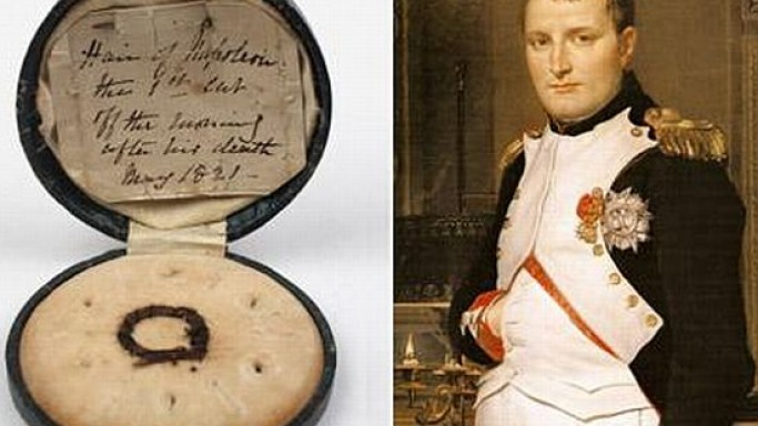 Lock of Napoleon's hair sells for $13,000