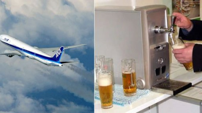 ANA becomes the first airline to offer in-flight draft beer service