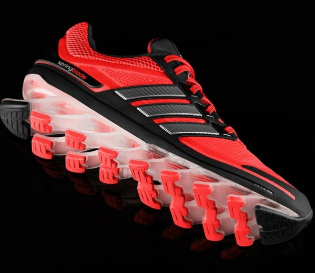new adidas springblade running shoes with the inbuilt