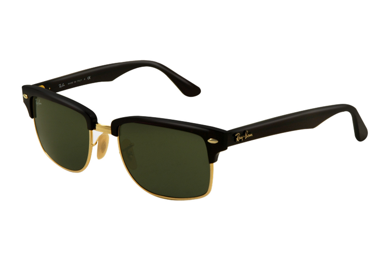 ray ban sunglasses black gold  black and gold; ray ban squared clubmaster sunglass 1