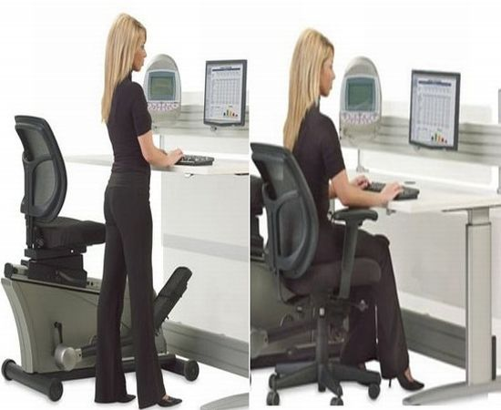 Hammacher Schlemmer elliptical desk