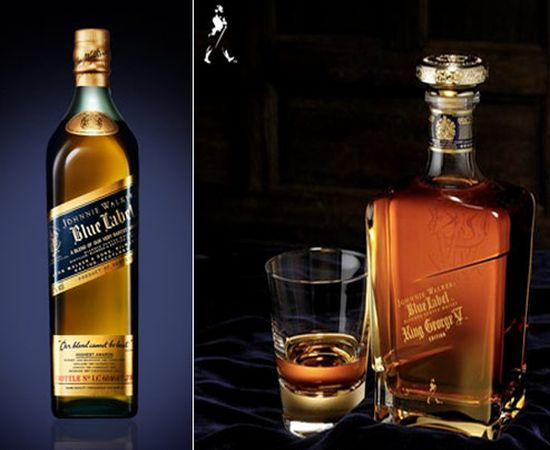 limited edition Johnnie Walker bottles