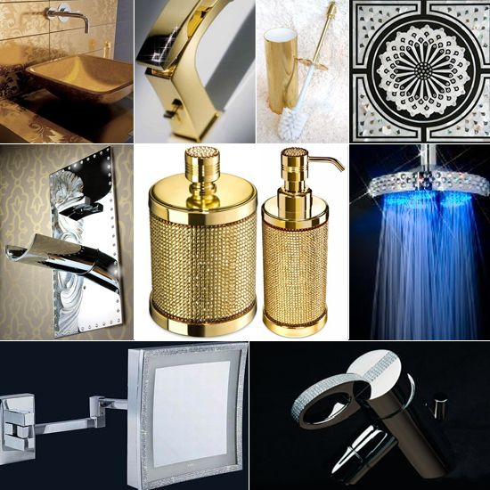 Crystal bathroom accessories