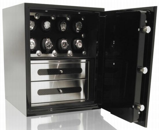 The brown safe with Orbita watch winder perfect way to protect your timepiece