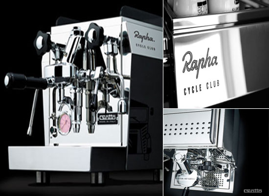 Coffee machine from Rapha Rocket Expresso