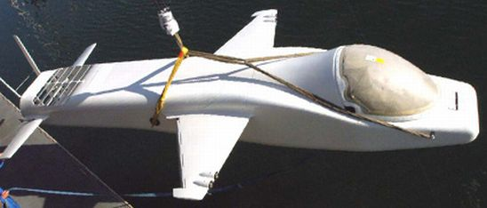 Deep flight Challenger submarine