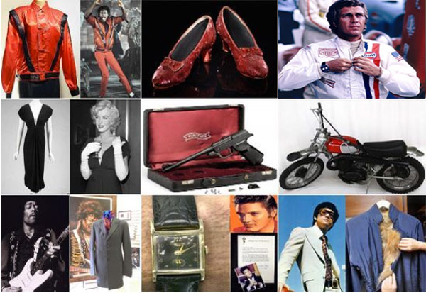 Most expensive celebrity memorabila
