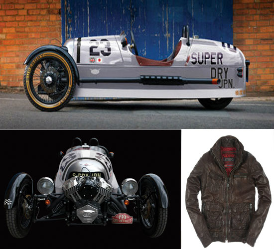 Morgon 3 wheeler and leather jacket