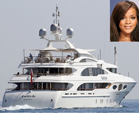 Rihanna's vacation on the Benetti Latitude mega-yacht