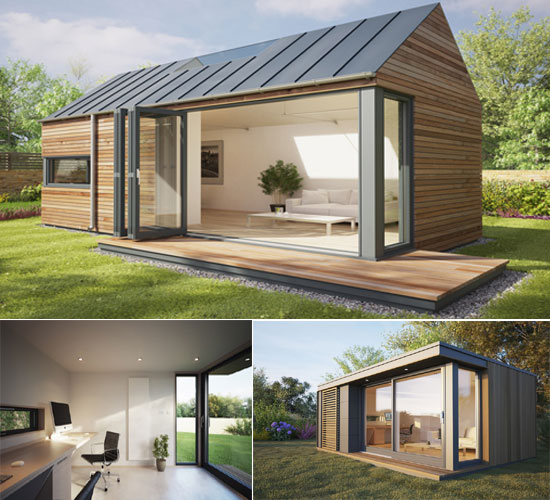 in complete tranquility with pod space home garden offices bornrich