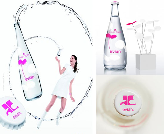 Evian limited edition water bottle