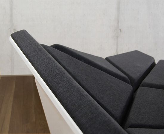 Shape Shifting Coy sofa by Alexander Rehn