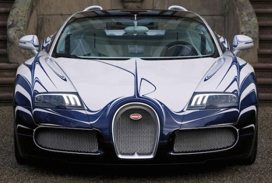 Bugatti Veyron Grand Sport with porcelain body