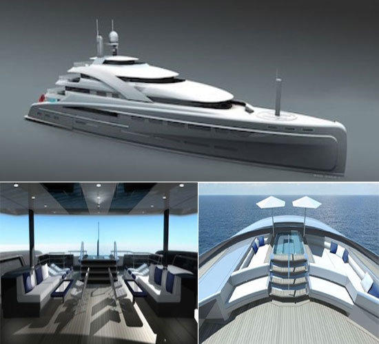 Illusion Superyacht inspired by Rolls Royce cars